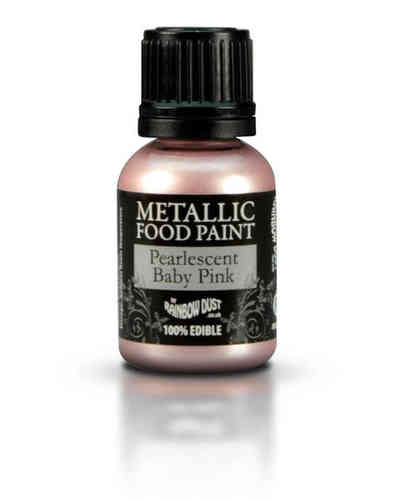 Metallic Food Paint Pearlescent Baby Pink