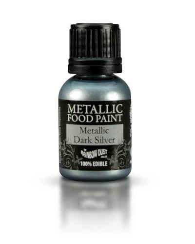 Metallic Food Paint Metallic Dark Silver