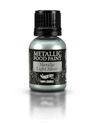 Metallic Food Paint Metallic Light Silver
