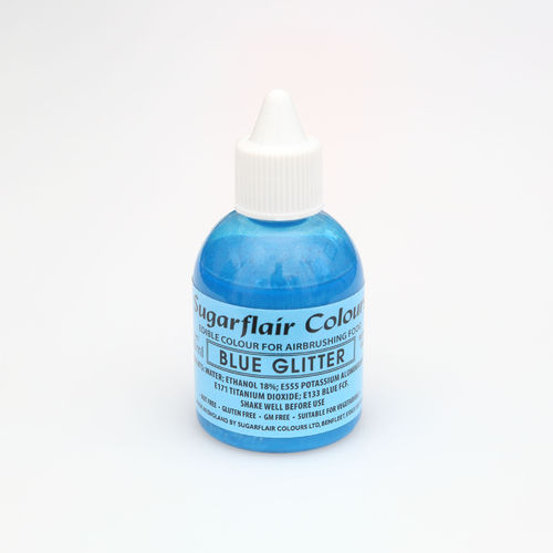 Airbrushfarbe Glitter Blau / Blue 60ml