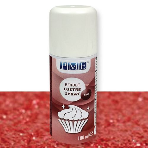 Lustre Spray Red Edible PME 100ml