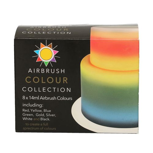 Airbrush Colouring Multipack Sugarflair 8x14ml