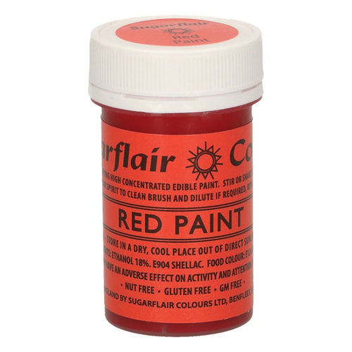 Sugarflair Malfarbe / Edible Paints Red / Rot