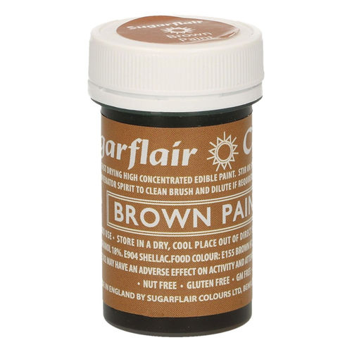 Sugarflair Malfarbe / Edible Paints Brown / Braun
