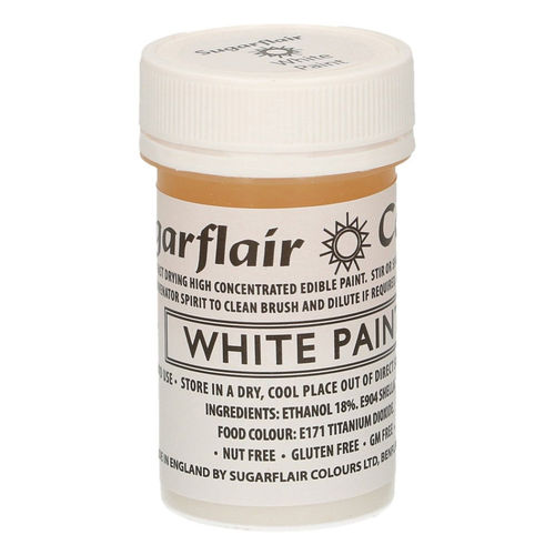 Sugarflair Malfarbe / Edible Paints White / Weiß