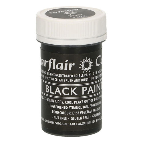 Sugarflair Malfarbe / Edible Paints Black / Schwarz