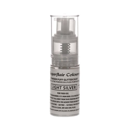Sugarflair Pump Spray Glitter Dust Light Silver / helles Silber