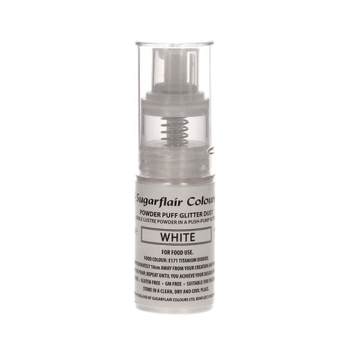 Sugarflair Pump Spray Glitter Dust White / Weiß