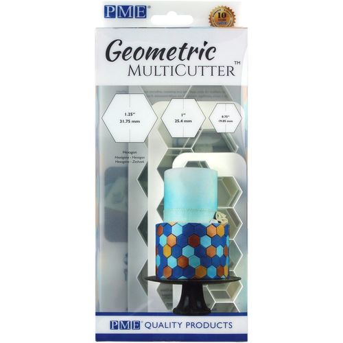 Geometric Multicutter Hexagon / Sechseck 3er Set