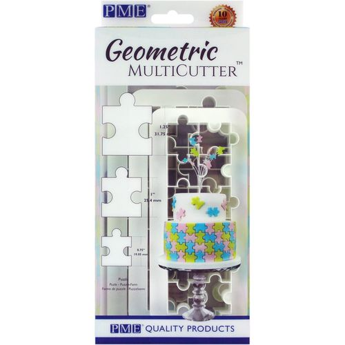 Geometric Multicutter Puzzle 3er Set