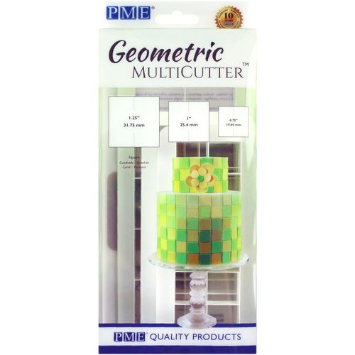 Geometric Multicutter Square / Quadrat 3er Set