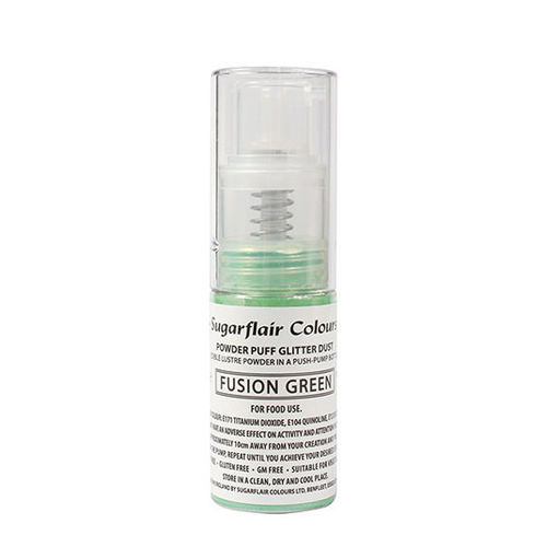 Sugarflair Pump Spray Glitter Dust Fusion Green / Grün