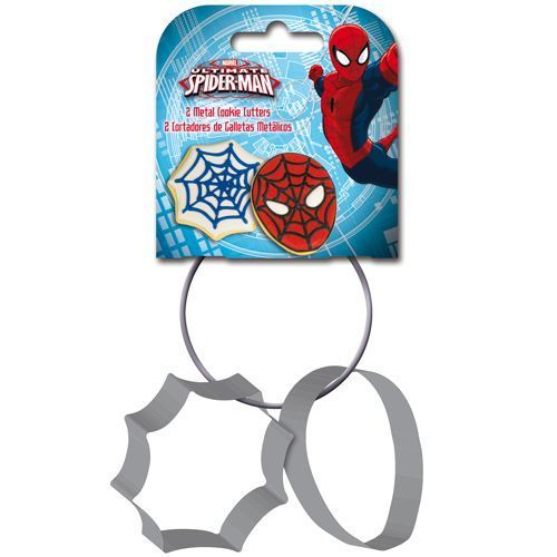 Spiderman 2er Set Keks Ausstecher metall von Stor