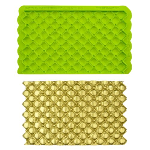 "Tufted Swiss Dot ""Quilted"" Simpress Silikonform von Marvelous Moulds"