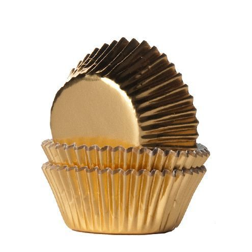 Mini Muffin Förmchen Folie Gold 36/Pkg. von House of Marie
