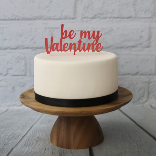 "CakeTopper ""Be my Valentine"""