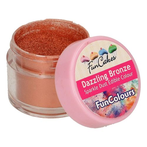 FunColours Sparkle Dust Edible Colour Dazzling Bronze