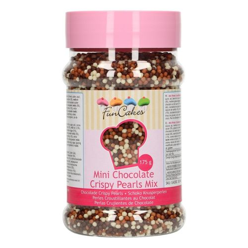 FunCakes Mini Chocolate Crispy Pearls 175g