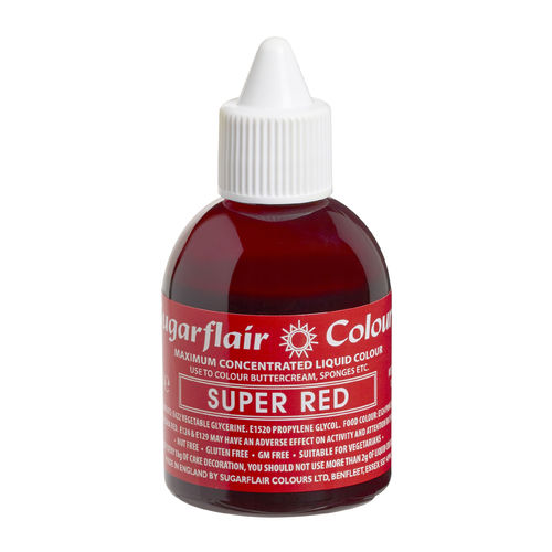 Sugarflair Flüssigfarbe Super Red 60ml