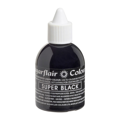 Sugarflair Flüssigfarbe Super Black 60ml