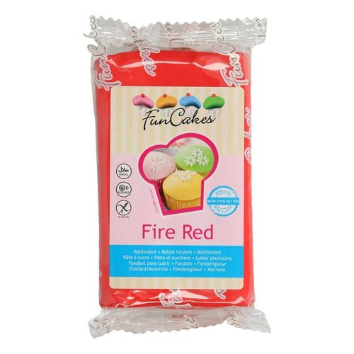 Rollfondant rot 250g FunCakes Fire Red