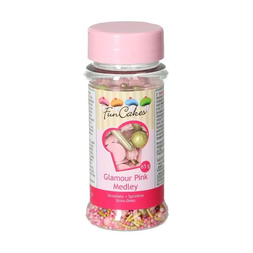 FunCakes Sprinkle Medley Glamour Pink 65g